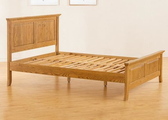 Teenage Student Wooden Single Bed Frame , Comfortable Real Wood Bed Frame