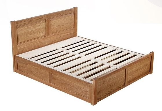 Big Capacity Solid Wood Bed Frame With Drawers Storage Environment - Friendly