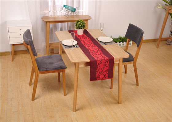 Small Size Modern Oak Solid Wood Dining Table Sets Natural Color For Kitchen