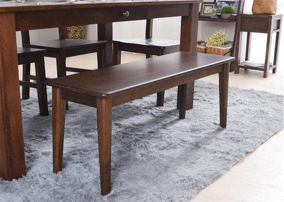 Commercial Dark Oak Furniture Benches , Restaurant Practical Hardwood Bench Seat