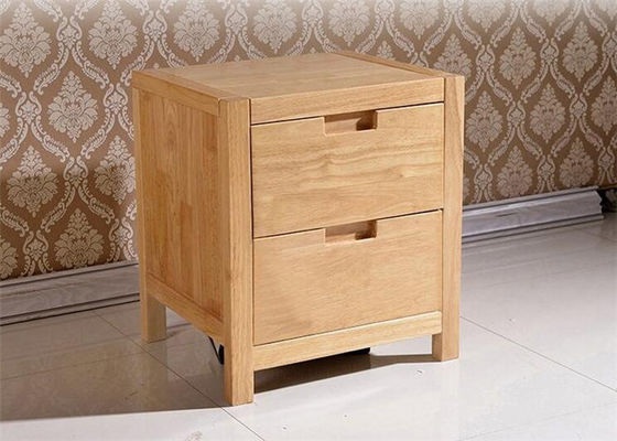 Practical 2 Drawer Bedside Table With Drawers , Family Cherry Wood Nightstand