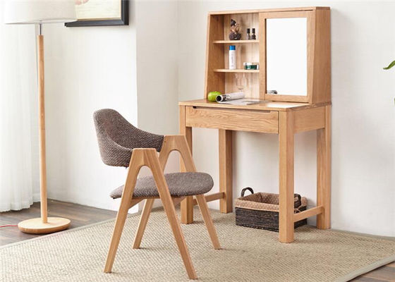 Moder Makeup Small Solid Wood Dressing Table And Chairs Simple Style For Family