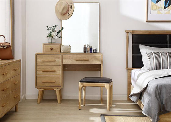Practical Girls Oak Dressing Table Set , Bedroom Furniture Dressing Table