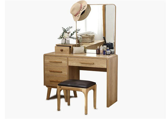 Classical Style Walnut Dressing Table , Economic Light Oak Dressing Table