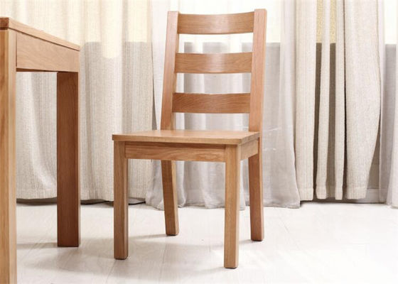 Solid Beech Wood Ladder Back Dining Chairs , Living Room Wooden Kitchen Chairs