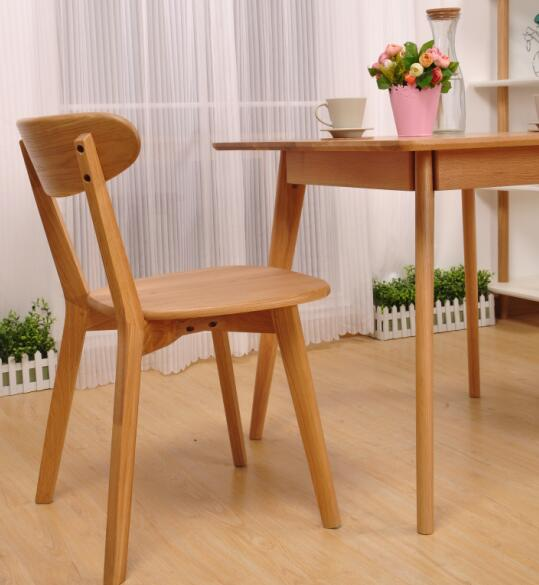 Home Light Small Oak Dining Table And Chairs For 4 , Living Room Square Oak Dining Table