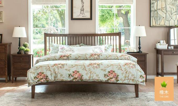 Traditional Walnut Bedroom Furniture , Antique Style Queen Bedroom Furniture Sets