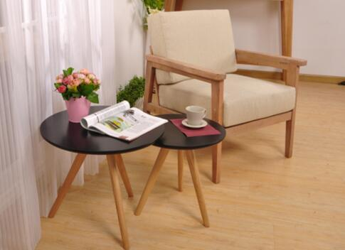 Birch Round Wood Coffee Table Eco -  Friendly  , Leisure Hardwood Coffee Table