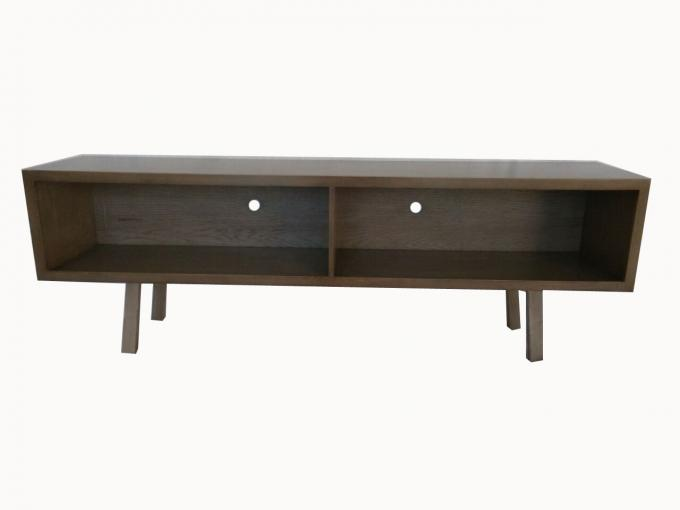 Low Profile Dark Wood 40 Inch Living Room TV Stand Simple Style Economic For Hotel