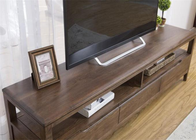Simple Solid Oak Wood 42 Inch Living Room TV Stand Unit Environment - Friendly