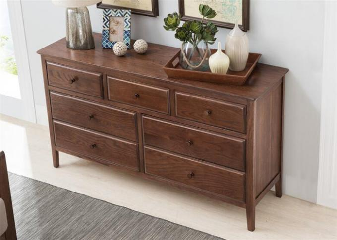 Classic Style Locking Living Room Storage Cabinet Wooden Frame High Standard