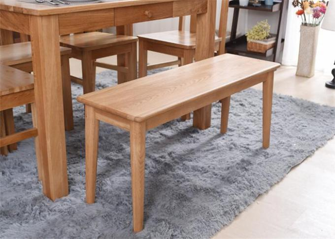 Modern Beech Hardwood Narraw Solid Wood Bench Eco -  Friendly For Restaurant