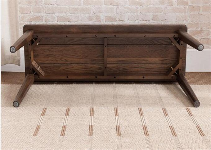 Living Room Long Pine Solid Wood Bench 2 - 3 Seats Simple Style High Standard