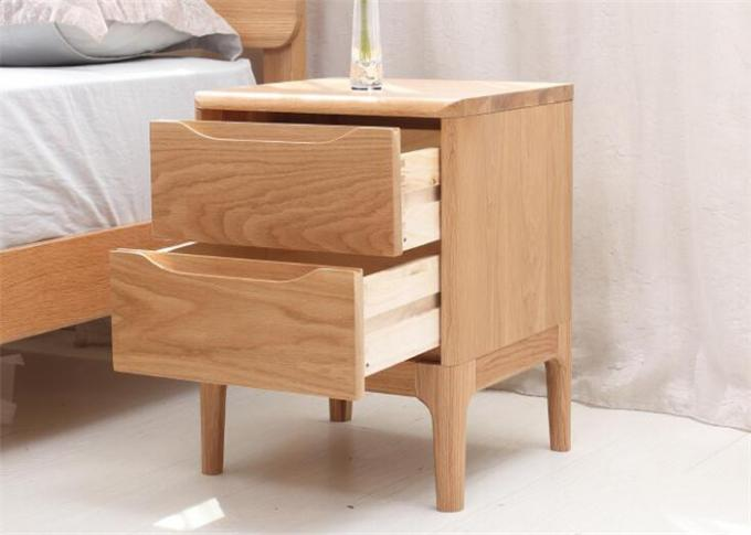 2 Drawer Light  Solid Cherry Nightstand , Home Bedroom Real Wood Nightstands
