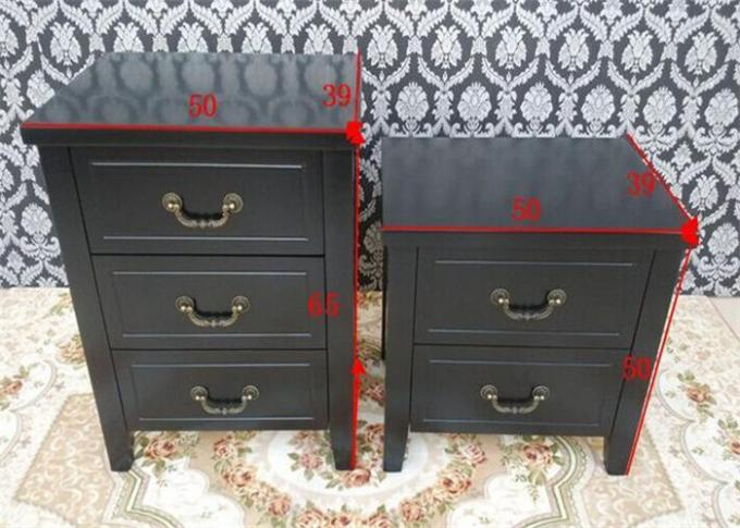 Double Black Bedroom Night Stands Storages Home Bedroom End Tables Simple Style