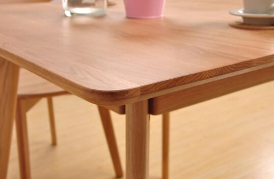 Breakfast Solid Oak Dining Table And Chairs , Square Rustic Dining Room Table